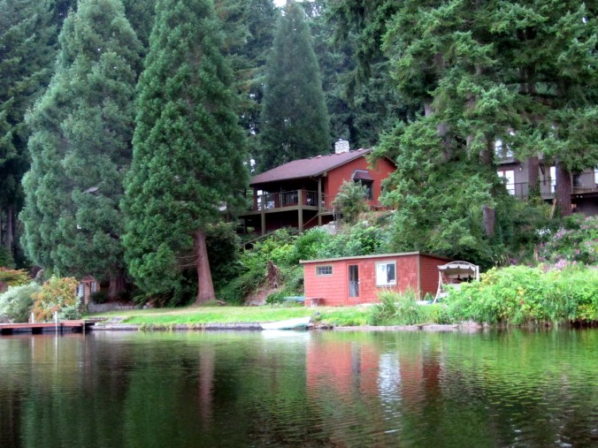 Cottage from lake